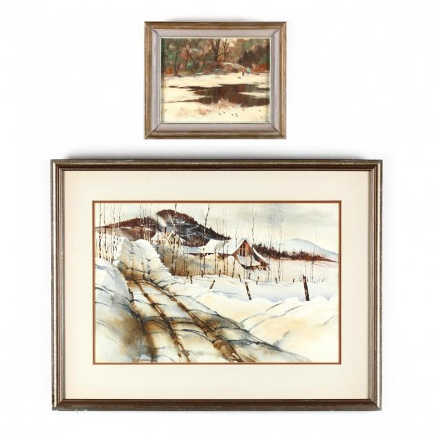 two-new-england-winter-landscape-paintings