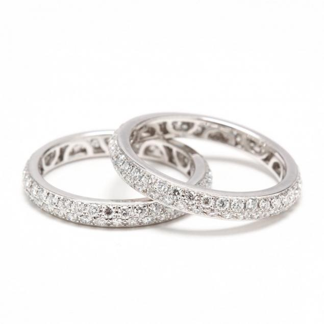 pair-of-18kt-white-gold-and-diamond-eternity-bands