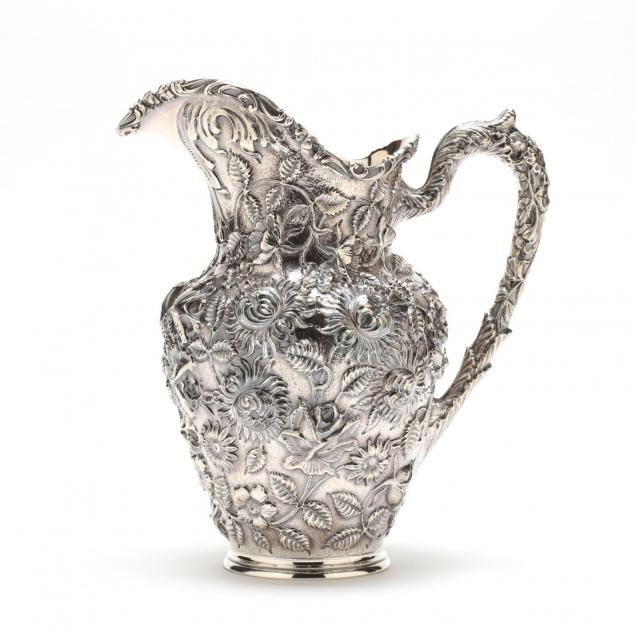 baltimore-rose-sterling-silver-water-pitcher