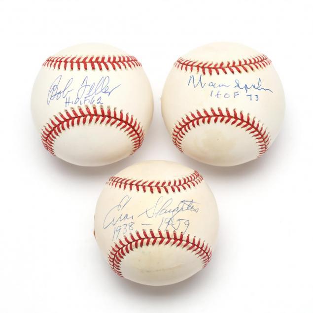 group-of-hall-of-famers-single-signed-baseballs-psa-dna