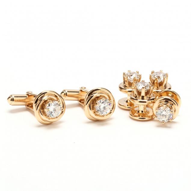 14kt-gold-and-diamond-dress-set