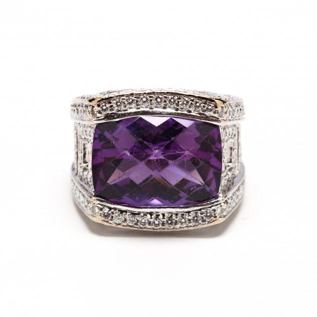18kt-white-gold-amethyst-and-diamond-ring