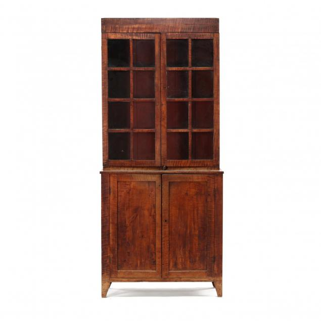 new-england-federal-tiger-maple-step-back-flat-wall-cupboard