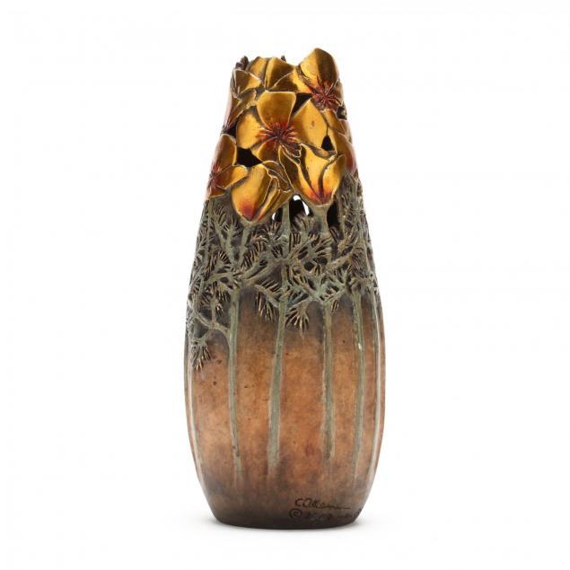 carol-alleman-pa-az-i-remembering-gratitude-i-bronze-sculptural-vase