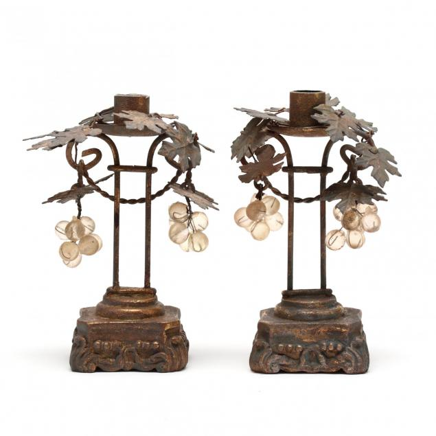 a-pair-of-vintage-gilt-toleware-candlesticks