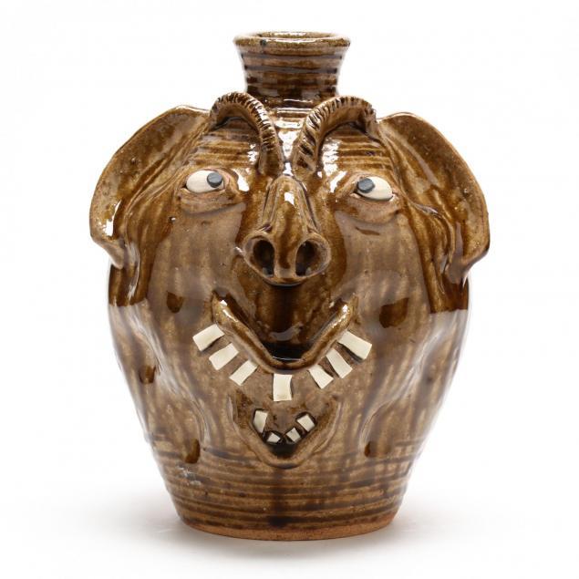 nc-folk-pottery-charles-lisk-face-jug