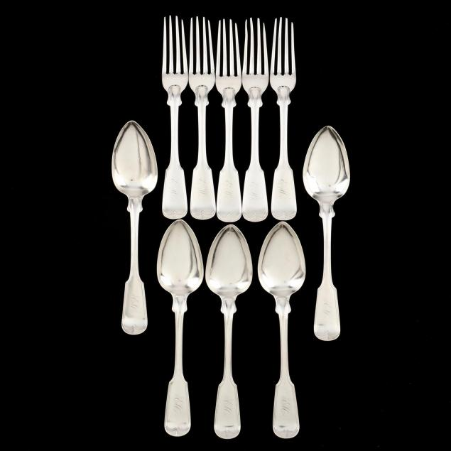 ten-pieces-of-southern-coin-silver-flatware