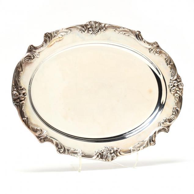 reed-barton-king-francis-silverplate-tray