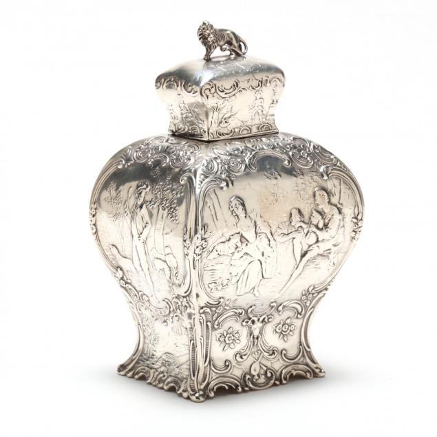 a-hanau-silver-tea-caddy-in-the-rococo-style
