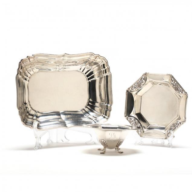 three-american-sterling-silver-dishes