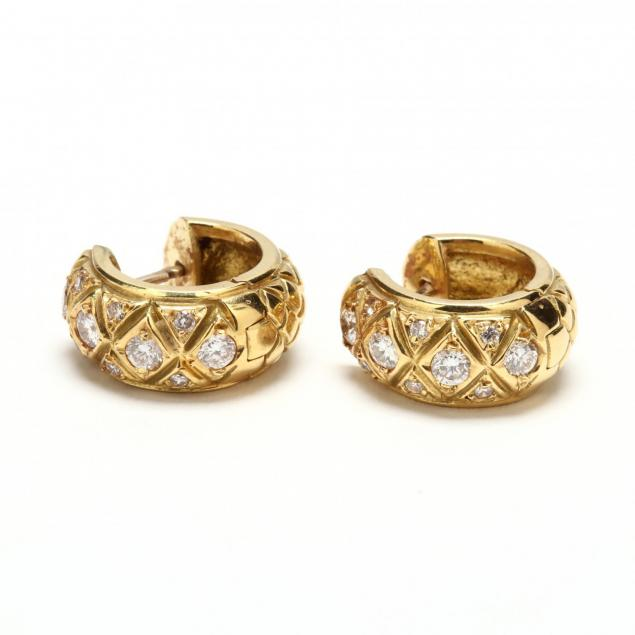 18kt-gold-and-diamond-huggie-earrings