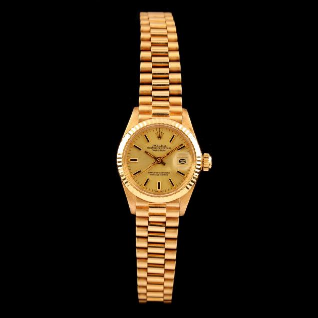 lady-s-18kt-oyster-perpetual-datejust-watch-rolex