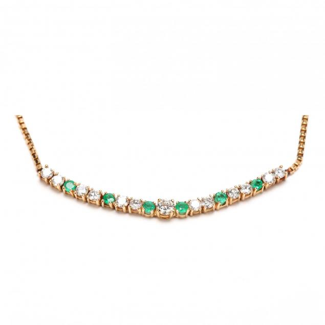 14kt-diamond-and-emerald-necklace