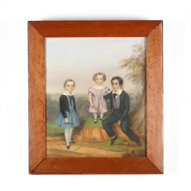 a-pastel-portrait-of-three-siblings-circa-1840