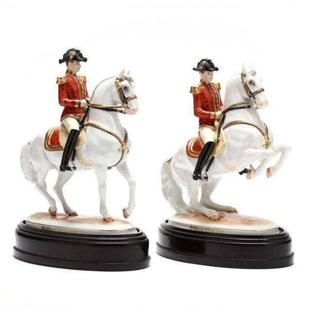 two-hofburg-wien-augarten-spanish-riding-school-figurines