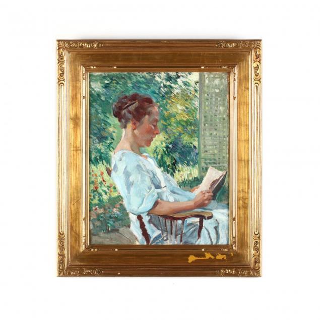 edmund-marion-ashe-1867-1941-i-the-trellis-mrs-ashe-reading-i