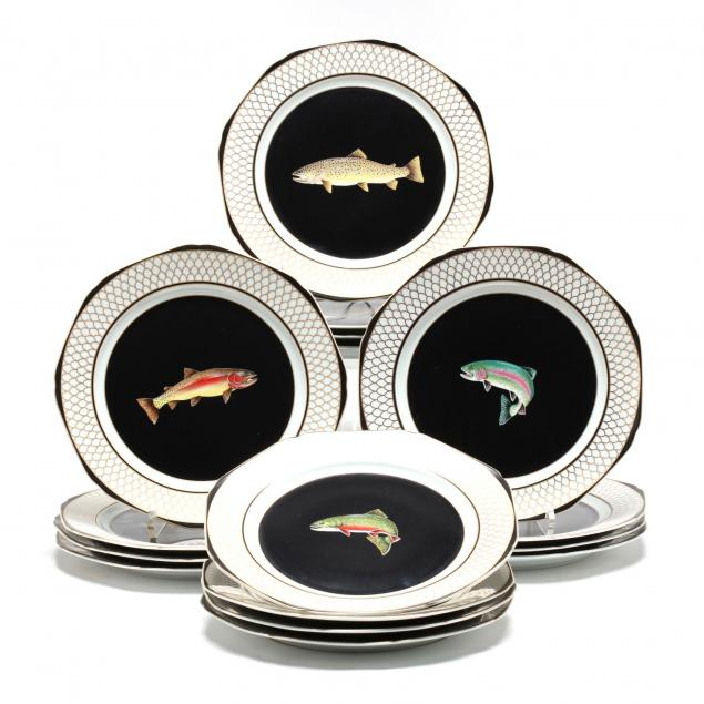 a-set-of-16-plates-trout-of-american-waters-lynn-chase