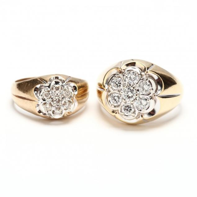 two-gent-s-10kt-gold-and-diamond-rings