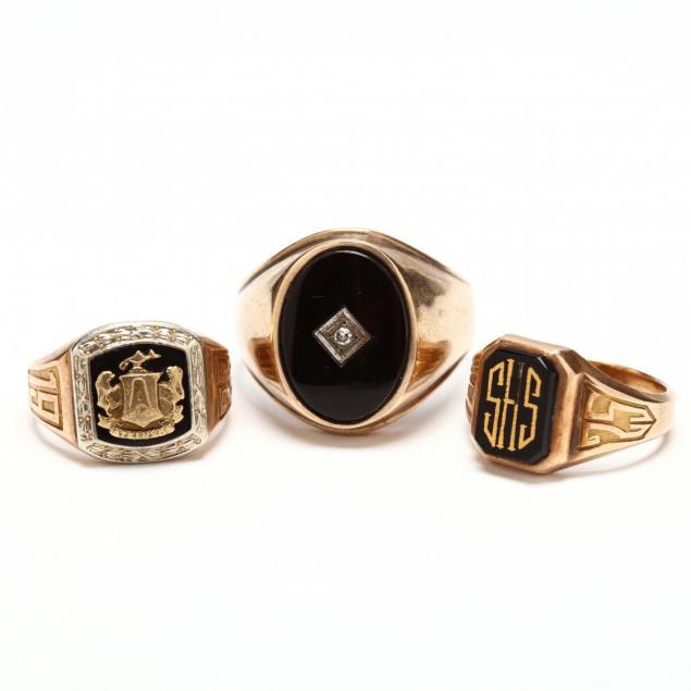three-10kt-gold-rings