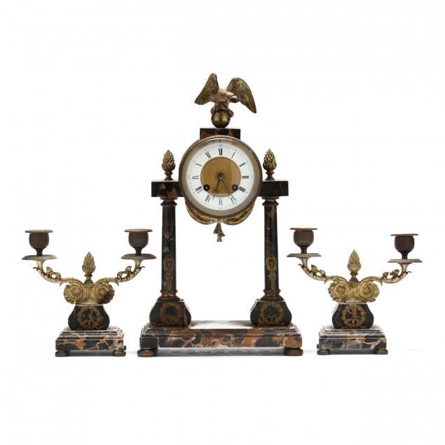 french-empire-clock-garniture