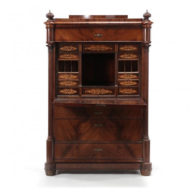 continental-inlaid-mahogany-secretaire-abbatant