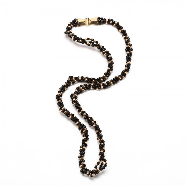 14kt-gold-and-onyx-bead-torsade-necklace