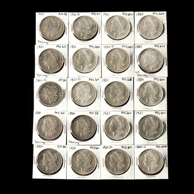 twenty-mixed-date-mint-morgan-silver-dollars