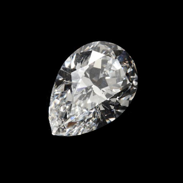 unmounted-pear-cut-diamond-with-platinum-and-diamond-mount