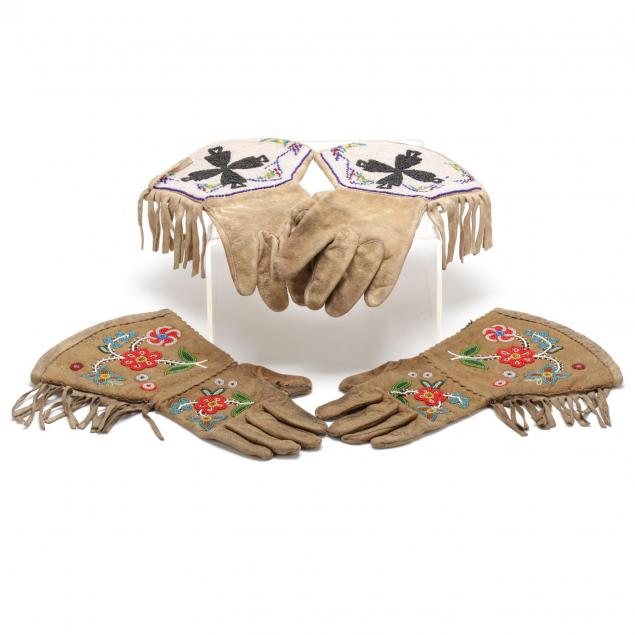 two-pair-of-northern-plains-beaded-gauntlets