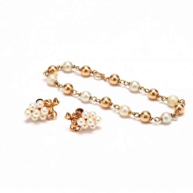 two-gold-and-pearl-jewelry-items