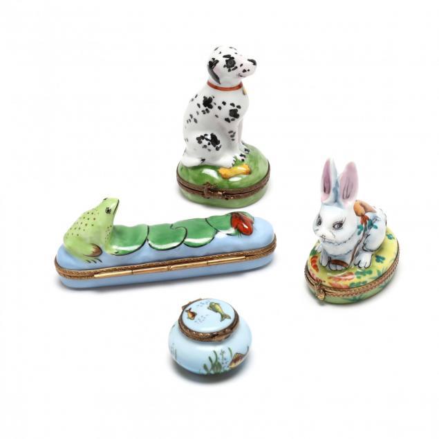 four-limoges-porcelain-boxes