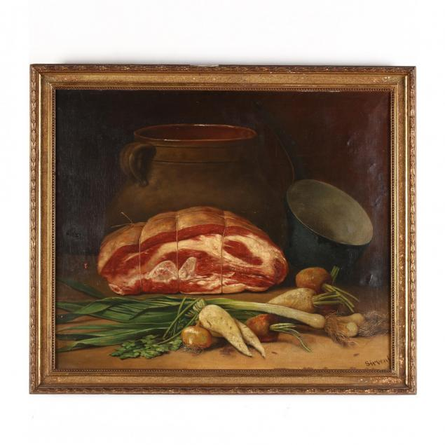 sirvent-french-19th-century-still-life-with-ham