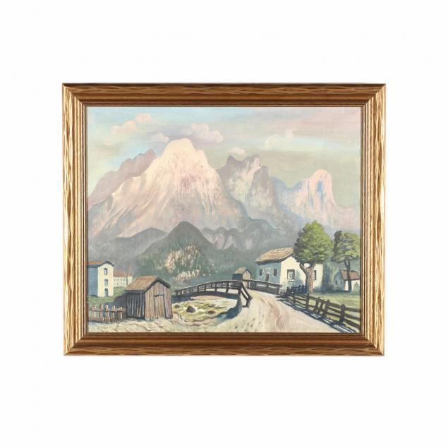 august-wilhelm-dressler-german-1886-1970-a-continental-mountain-thoroughfare