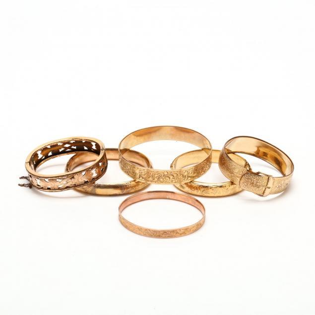 six-gold-filled-bangle-bracelets