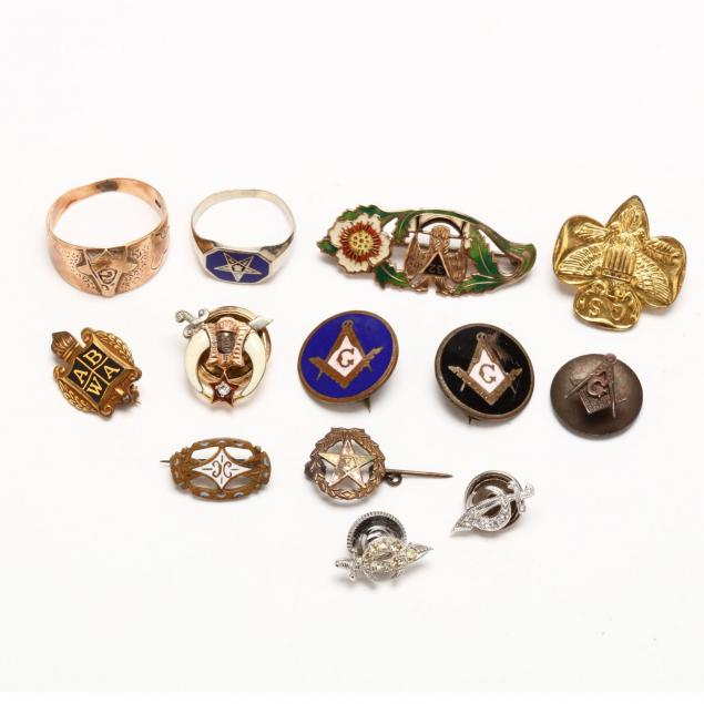 a-group-of-fraternal-society-jewelry