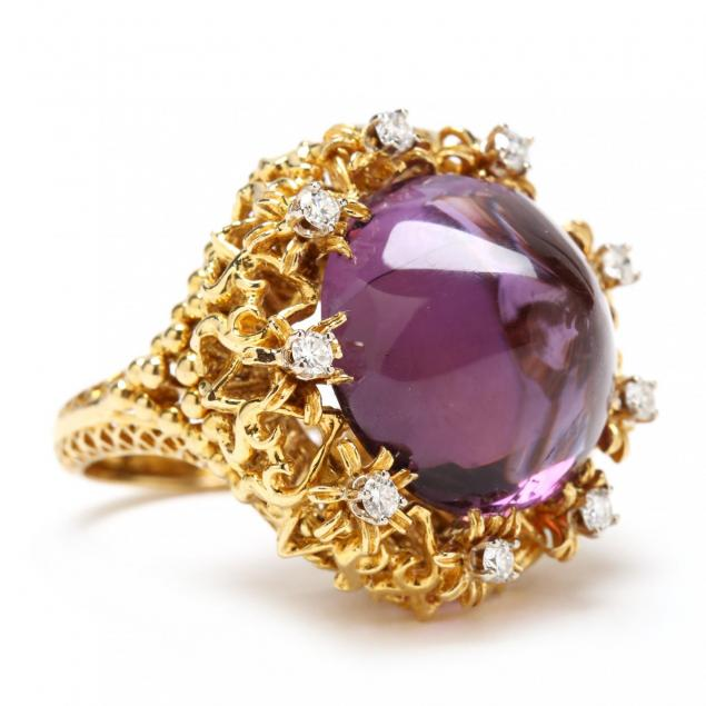 18kt-gold-amethyst-and-diamond-ring