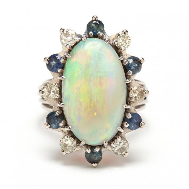 14kt-white-gold-opal-diamond-and-sapphire-ring