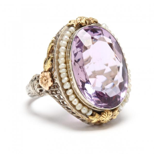 14kt-gold-amethyst-and-pearl-ring