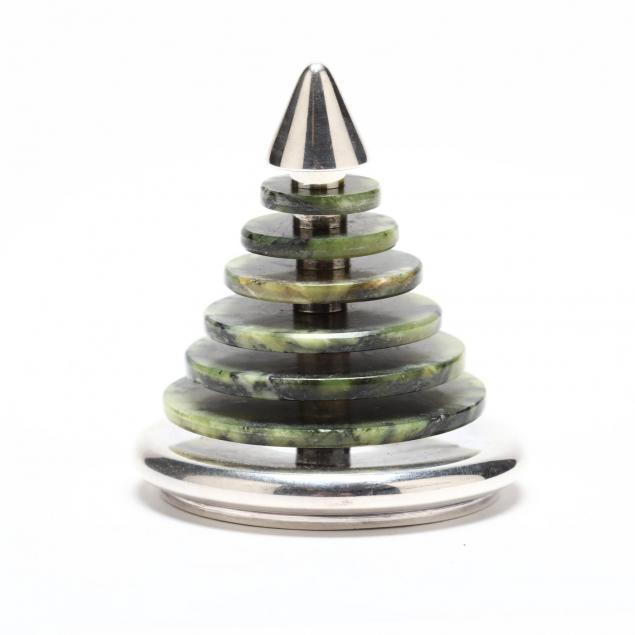 bulgari-sterling-silver-spinach-jade-desk-ornament