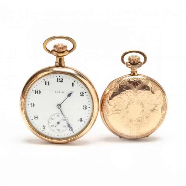 two-gold-filled-pocket-watches-elgin