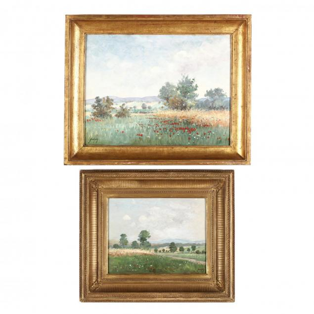 a-pair-of-hungarian-school-paintings-of-poppy-fields