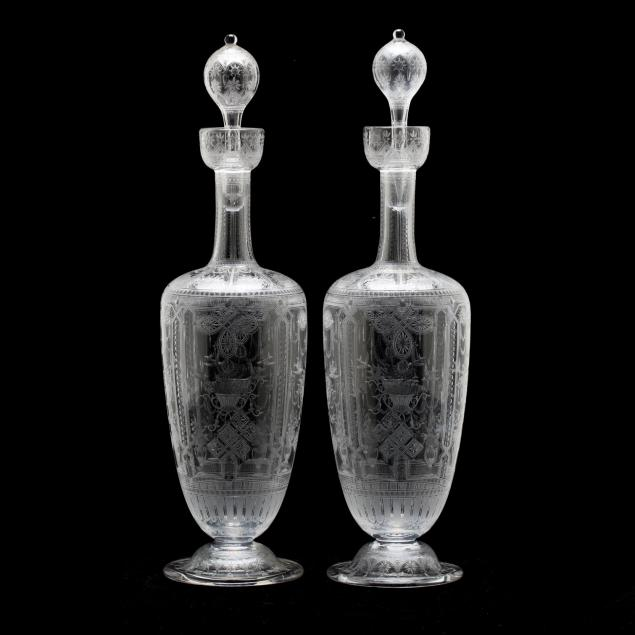 att-richardson-glass-pair-of-rock-crystal-engraved-decanters