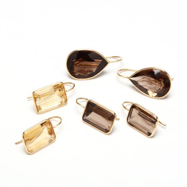 three-pairs-14kt-quartz-earrings