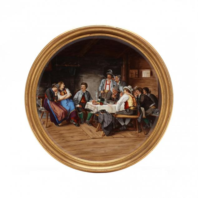 porcelain-plaque-depicting-a-tyrolean-tavern-scene