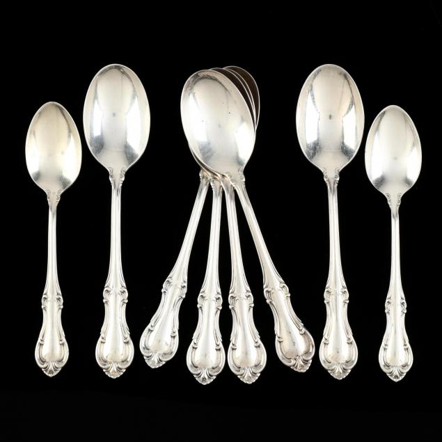 eight-international-joan-of-arc-sterling-silver-spoons