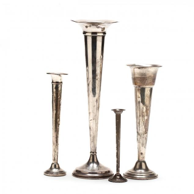 four-sterling-silver-bud-vases