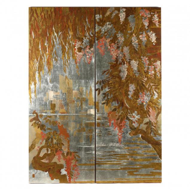countess-marianne-von-zastrow-20th-c-wisteria-diptych