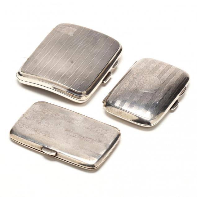 three-parcel-gilt-george-v-silver-cigarette-cases