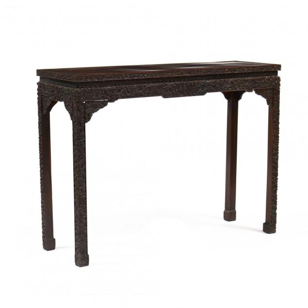 chinese-hardwood-carved-console-table