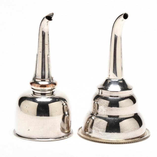 two-english-silverplate-wine-funnels